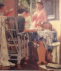 室内 油彩 100号 1955 当館.JPG